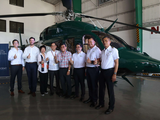 Startup pioneers helicopter ride-sharing platform in Southeast Asia