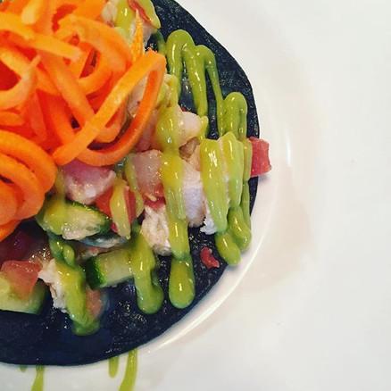 Ceviche tostada. - #chefiscooking #insau