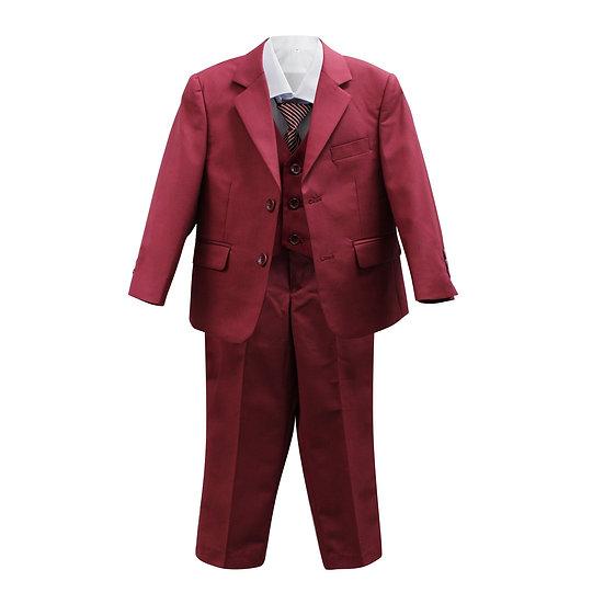 Veston Cravate Rouge Grenat