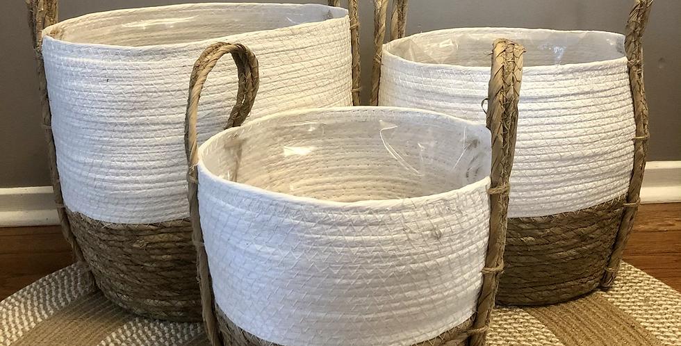 Straw Baskets 'White'