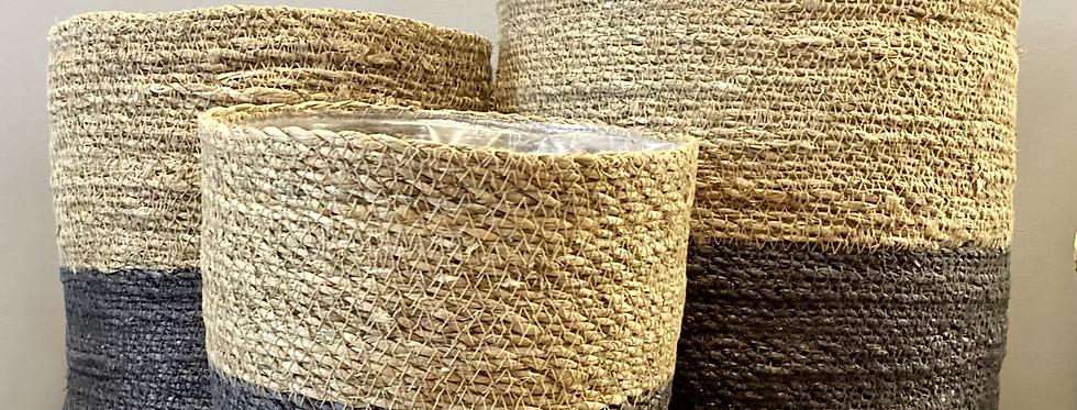 Dark Grey Woven Basket