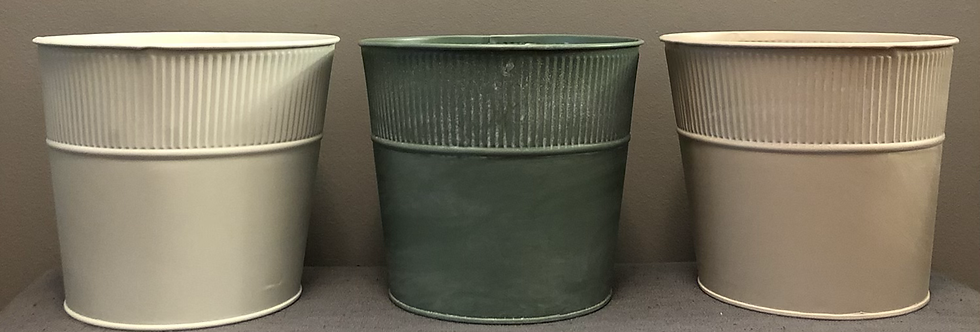 Farmhouse Style Tin Pots