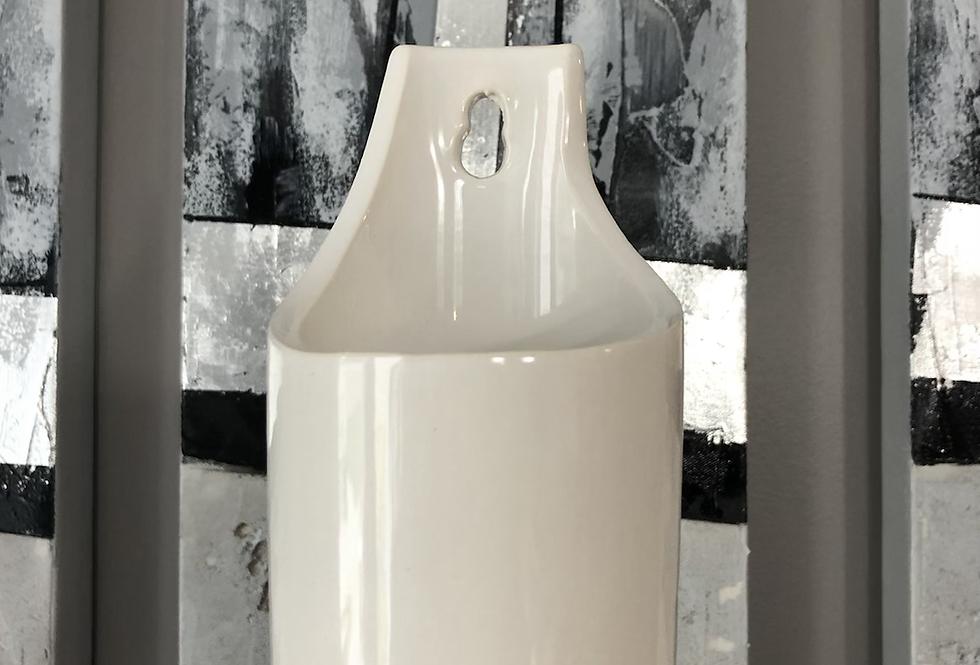 Ceramic Wall Pocket-White