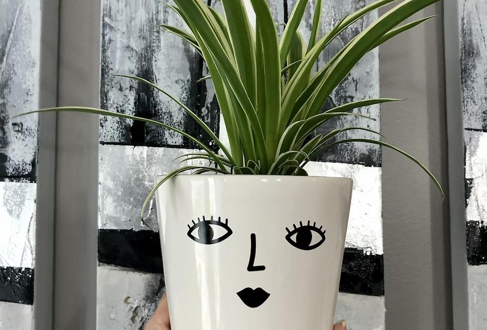 White Ceramic Pot 'Betty'