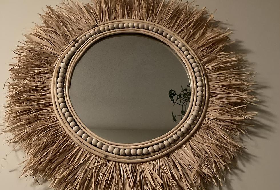 Tikki Rattan Mirror