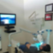 Patient having Professional Zoom Teeth Whitening at Best Dentist Office in Montebello