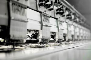 Macchine tessuto in fabbrica