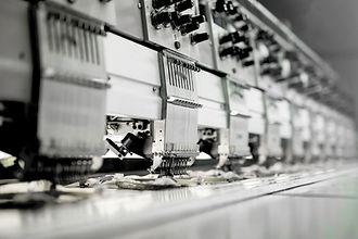 Machinery Tecido em fábrica
