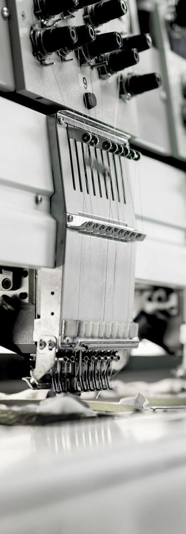 Fabrikasında Kumaş Makine