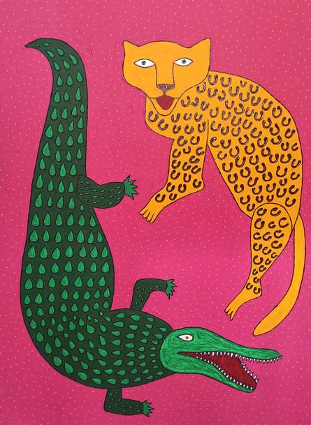 Leopard spots crocodile tears