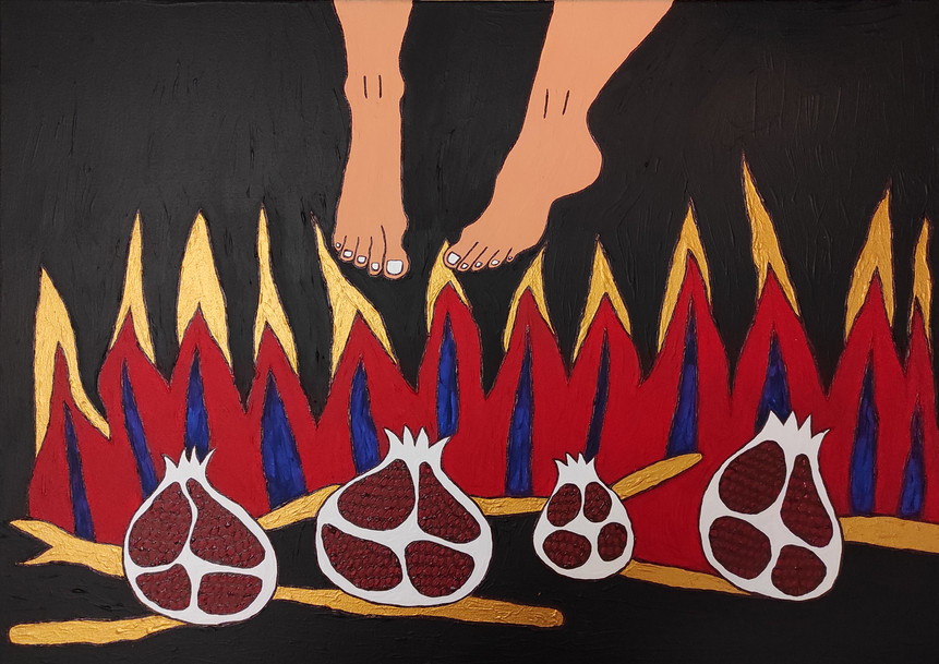 The feet of Saint Parthenios