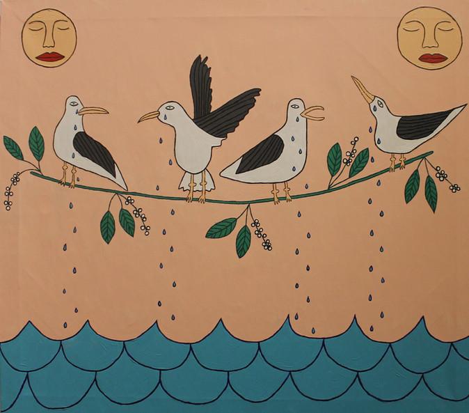 Чайки наплакали море