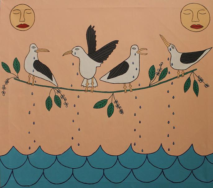Seagulls have cried a sea
