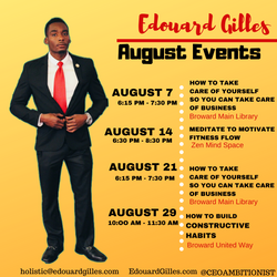 Edouard Gilles August 2019 Events