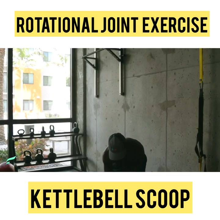 Rotational joint exercises are the best way to go. Less pressure on the joint and decrease chances of damaging your joints long term. This is the Kettlebell scoop. 1. Pretend the kettlebell is a bucket and your scooping water and throwing it away. 2.