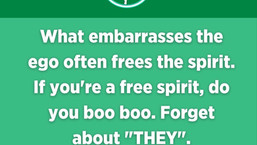 The Ego gets embarrassed, The Spirit does not.