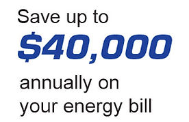 Save up to $40,000 annually on your energy bill