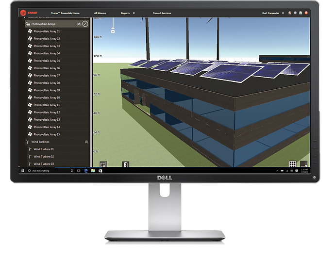 Building Automation System Desktop screen