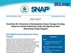 Make Sense of the new EPA Refrigerant Policy
