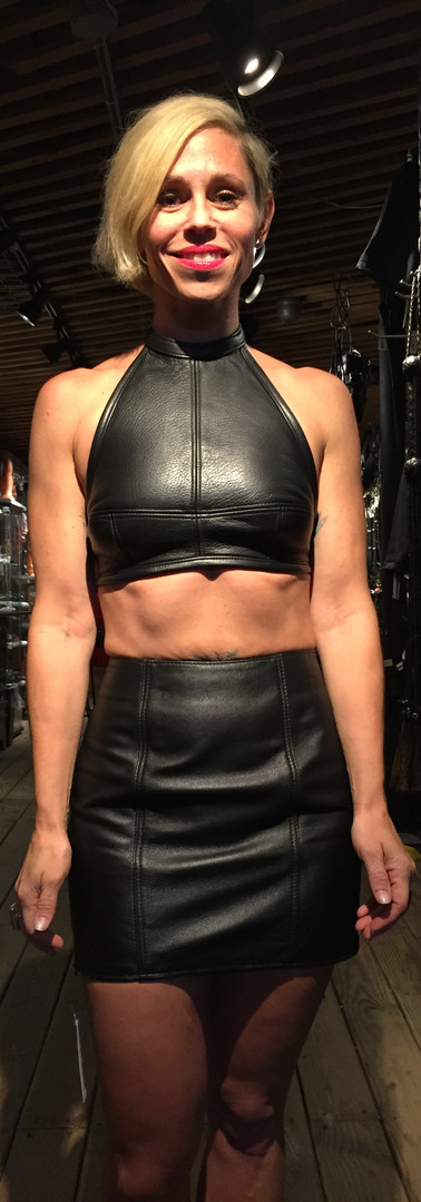 Leather Pencil Skirt