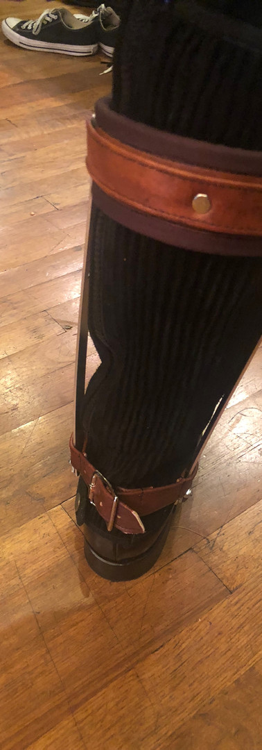 Beginning Stages of Leg Brace