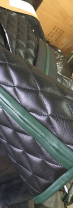 Work in Progress Quilted Leather Vest