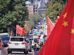 """温哥华""""爱中国、爱香港;反暴力、反港独""""双爱双反活动"""
