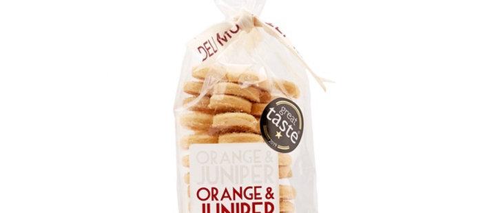 Orange and Juniper Shortbread - 125g