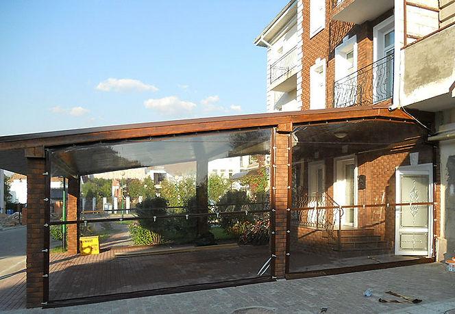 мягкие окна для кафе и ресторанов, тенты для кафе и ресторанов
