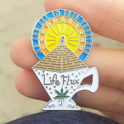 LifeFlux Teacup Pyramid Pin