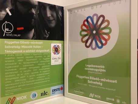 Civil Díj 2021 egyik nyertese lett a FESZ adománygyűjtő kampánya