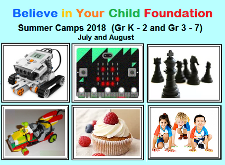 SUMMER CAMPS 2018 (July & August)