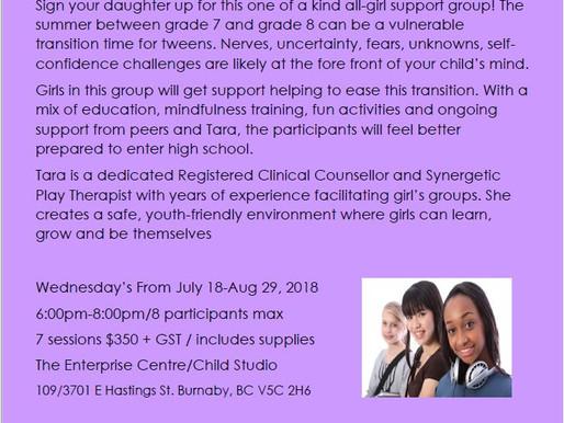 Grade 7 Girls Summer Support Group