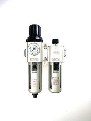 "Regulator / Adjustable Lubricator with Gauge 1/4"" NPT"