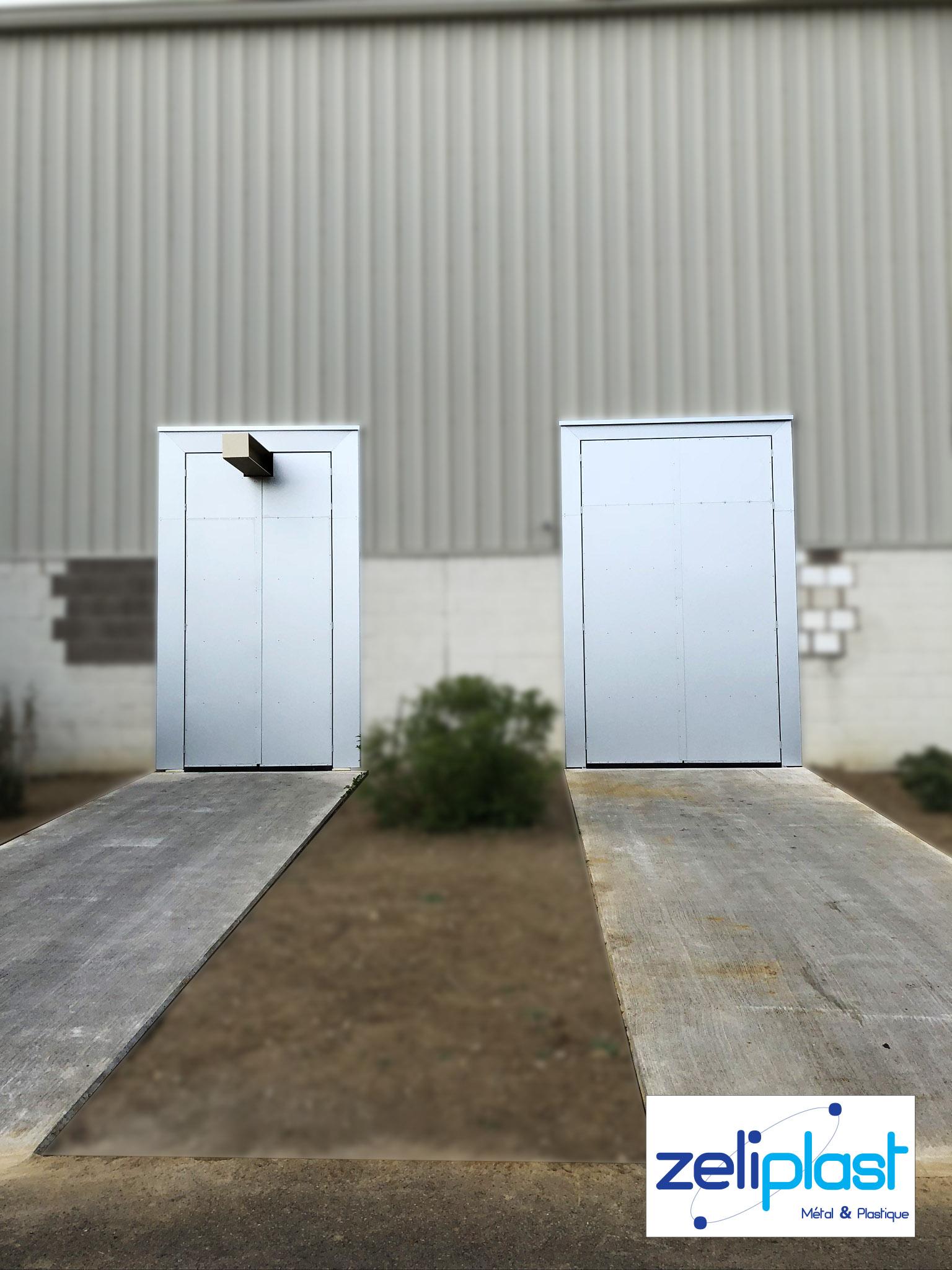 Portes en aluminium soudées assemblées