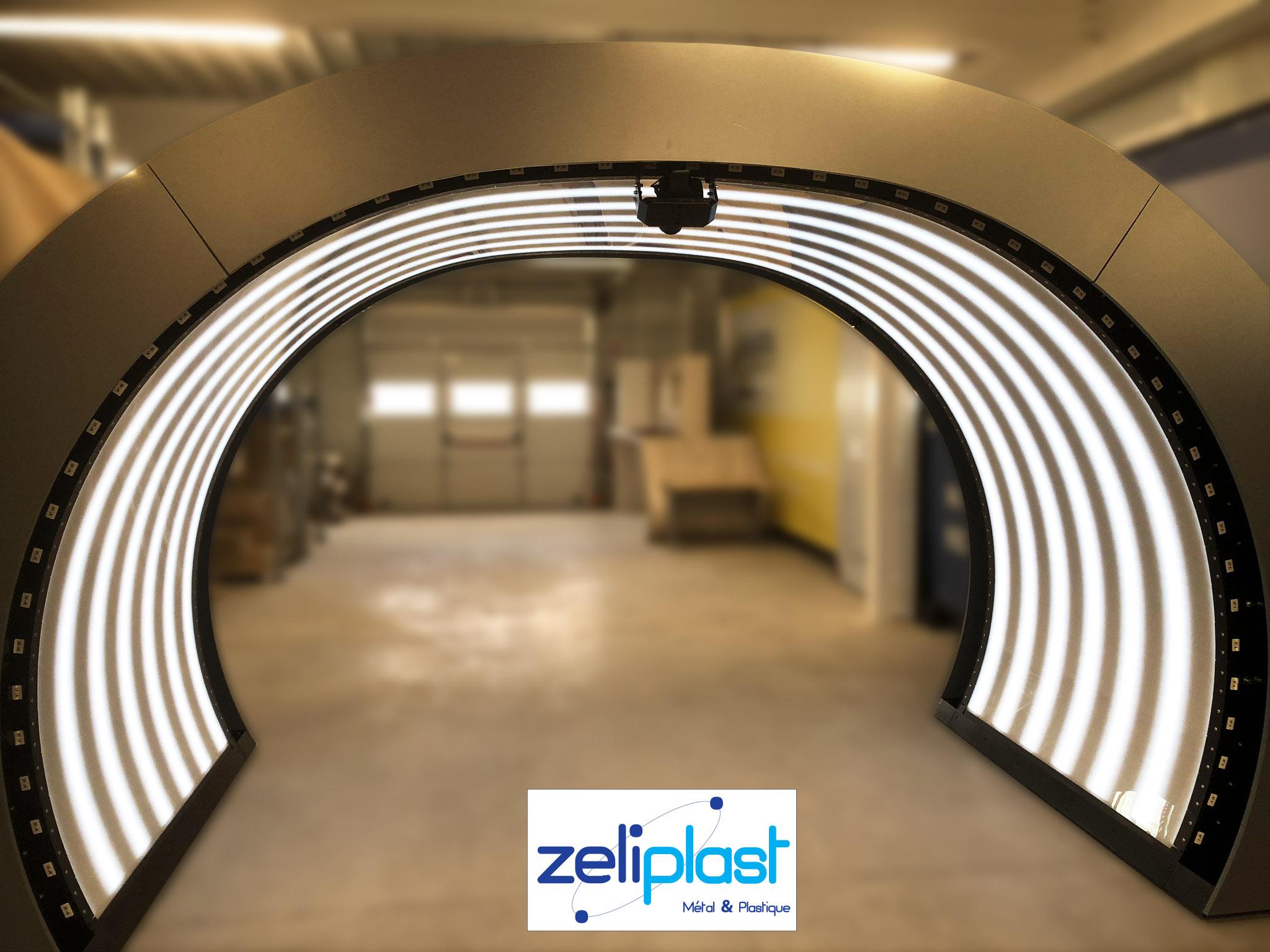 Tunnel plaques cintrées en polycarbonate