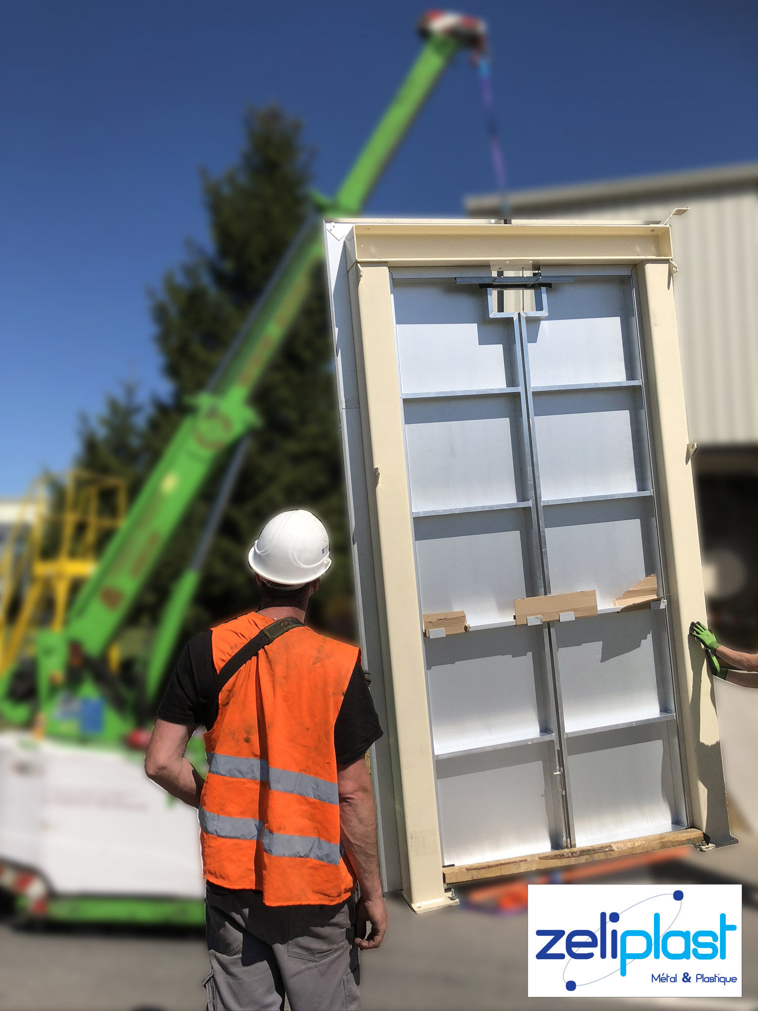 Placement d'une porte en aluminium
