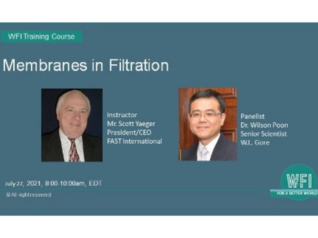 Membranes in Filtration, Tuesday, July 27