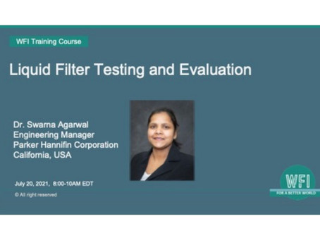 Liquid Filter Testing and Evaluation Course