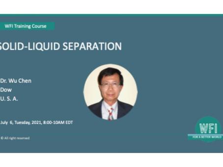 Solid-Liquid Separation starts tomorrow!