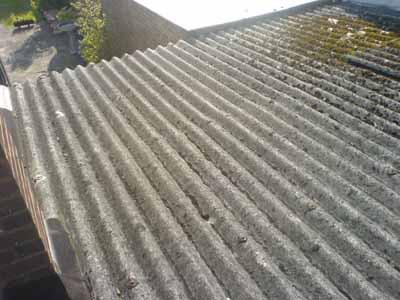 Asbestos profile roof