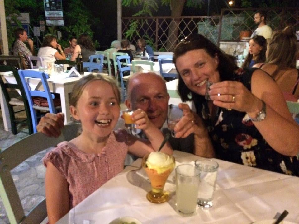 Samantha, Jerry and Freya Storer