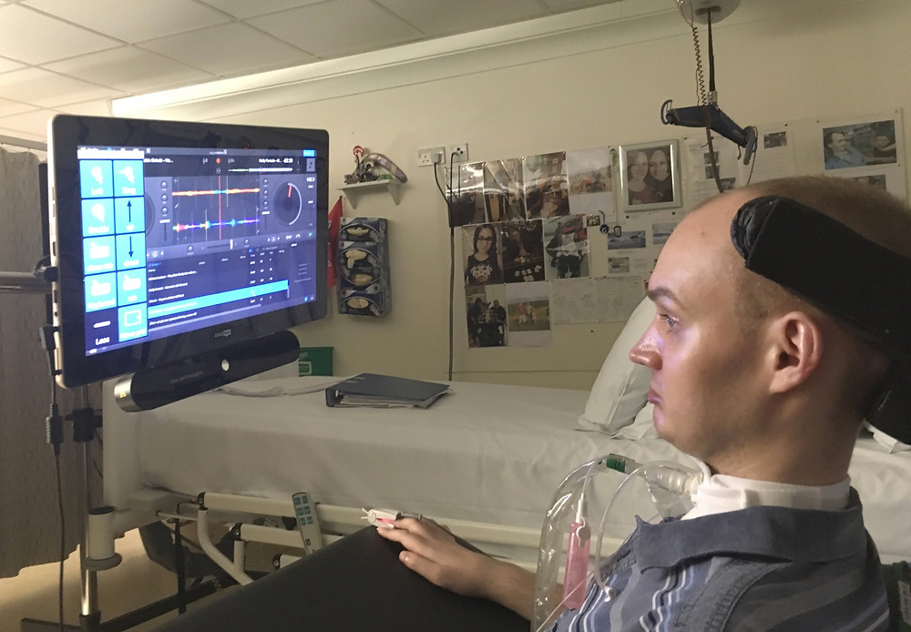 Dj ernestas using eyegaze to control DJ sofware