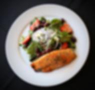La Traviata's Italian Pan Seared Salmon Salad