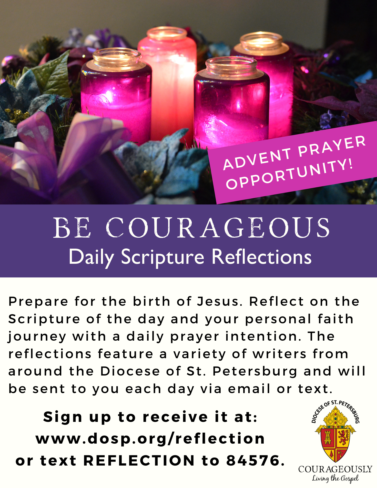Be Courageous Reflection Advent Ad v1 -