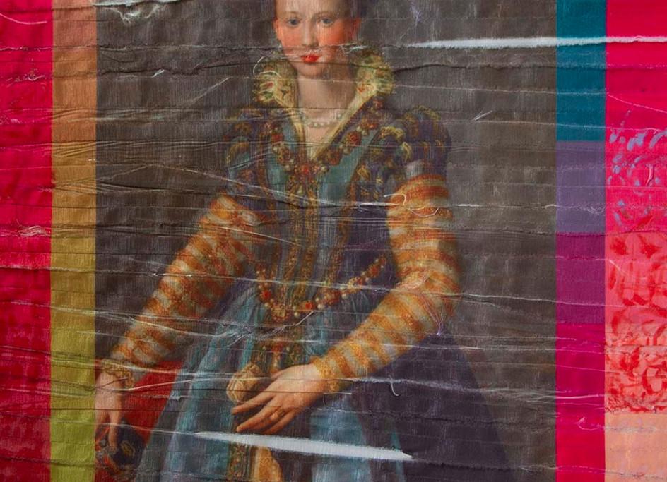 Tecnica mixta con textil