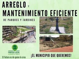 ¡El municipio que queremos! Tercer compromiso de gobierno: Arreglo y mantenimiento eficiente de parq