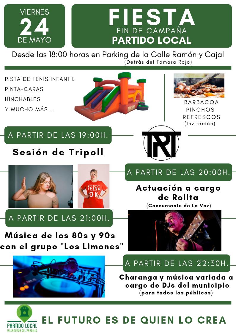 Fiesta cierre de campaña de Partido Local (24 de mayo - 18:00)