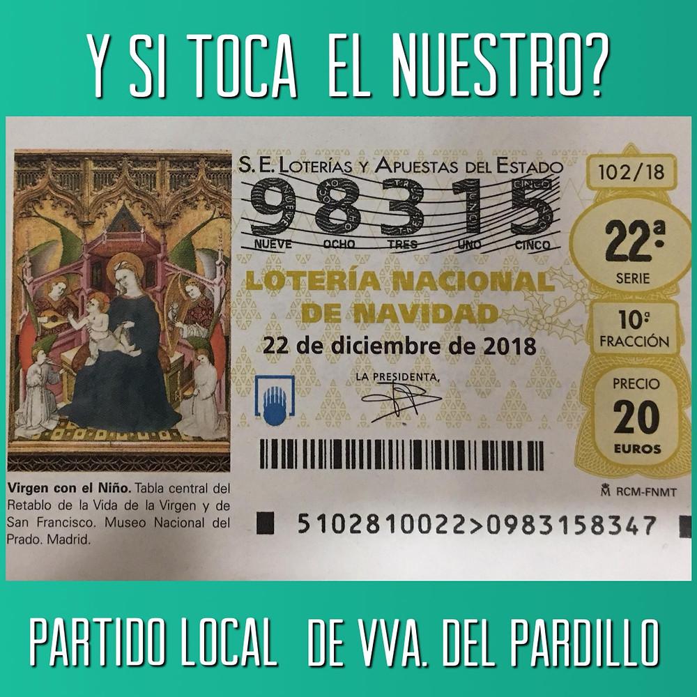 Número de la Lotería de Navidad del Partido Local