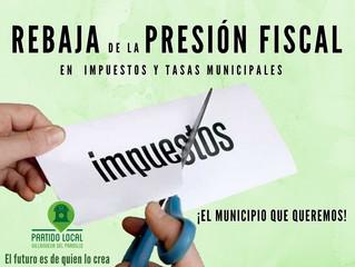 ¡El municipio que queremos! Segundo compromiso de gobierno: Rebaja de la presión fiscal en impuestos